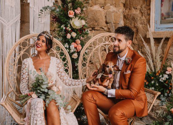 Decoración floral de boda en Tabarca